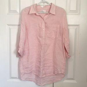 GAP Boyfriend Fit Longsleeve Linen Shirt